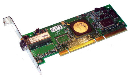 Dell 4U852 PCI-X133 Single port 2Gbps Fibre Channel Card Qlogic QLA2340 Std Brkt Thumbnail 1